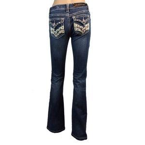 EUC LA Idol decorated flare jeans